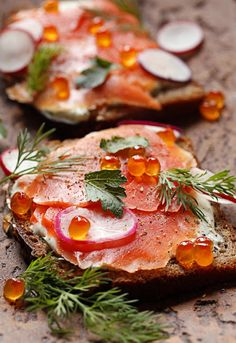 Smoked Salmon Smørrebrød from the Newf in My Soup blog