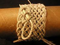 Turks head knot bracelets and contemporary fiber bracelets  #bracelet #cord #dmcfloss