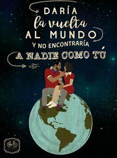 Daría la vuelta al mundo y no encontraría a nadie como tú  Happy couple Diego Fernando Diseño mexicano GIF world love estilo polo