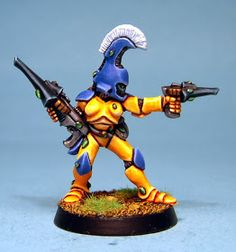 Here is the second installment of Dave Perry's superb Eldar collection. I particularly like Dave's deep and rich oranges on the Fire Dragons...