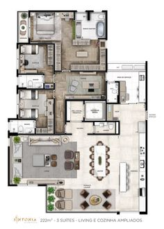Small House Floor Plans, Duplex House Plans, House Layout Plans, Apartment Floor Plans, Bedroom House Plans, Dream House Plans, Layouts Casa, House Layouts, Home Building Design