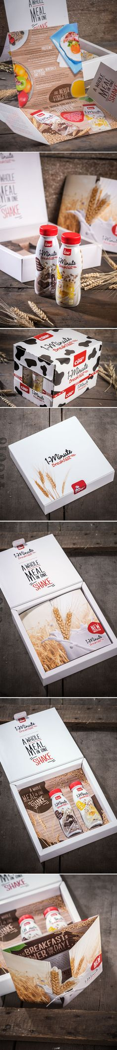 ONE MINUITE BREAKFAST // Packaging and Mailing by www.lunik2.com #mailing #packaging #graphic #design #befirst