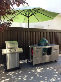 Made in the shade Big Green Egg Table, Green Eggs, Stainless Table, Ceramic Cooker, Grilling, Tables, Patio, Studio, Outdoor Decor