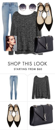 """""""Untitled #8"""" by anna-mors ❤ liked on Polyvore featuring Givenchy, Gap, Jimmy Choo, Yves Saint Laurent and Spitfire"""