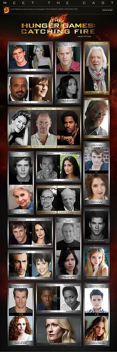 Full 'Catching Fire' cast. Sorry guys, looks like Annie won't be included :(