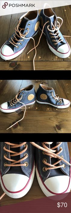 💕Converse Sll Star Lux Women's wedge high top💕 💕Super cute and feminine Converse All Star Lux mid wedge. Women's  black cherry/biscuit/Egret 551618C. Like new and in excellent used condition. The peached canvas that is super soft to the touch. Smoke free home.💕 Converse Shoes Sneakers