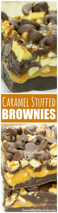 This is your ticket to brownie bliss – a rich, fudgy brownie wrapped around a thick, buttery caramel layer and topped with crisp pecans and chocolate chips. Bring on the sweet, sweet chocolate coma!