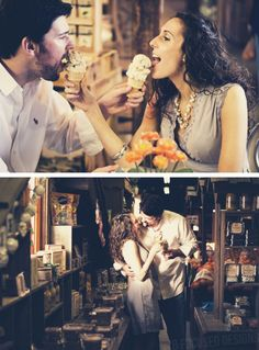 Engagement Pictures LOVE the ice cream idea...but not sure about the licking it like that...