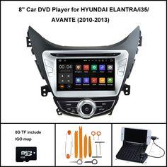 Android 5.1 Quad Core CAR DVD Player for HYUNDAI ELANTRA i35 AVANTE 2010-2013 GPS 1024X600 SCREEN WIFI/3G+DSP+RDS+16GB flash