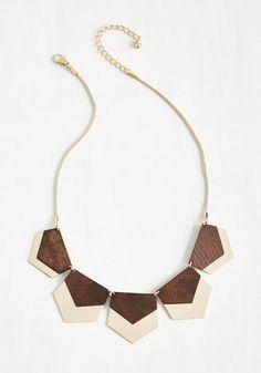 Hex in Line Necklace | Mod Retro Vintage Necklaces | ModCloth.com