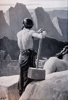 Thor and the Mountain, by J C Dollman by Thorskegga, via Flickr