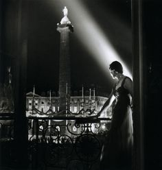 Robert Doisneau - Place Vendôme from a balcony at night, 1950