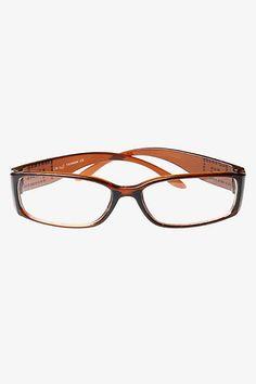 G Logo Squared Skinny Clear Glasses