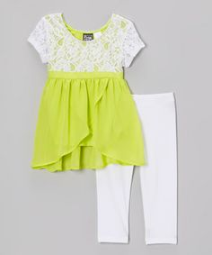 Love this Lime Lace Selma Tunic & Leggings by Pogo Club on #zulily! #zulilyfinds