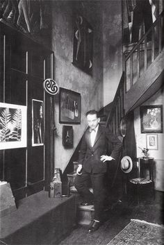 Man Ray in his atelier, circa 1935