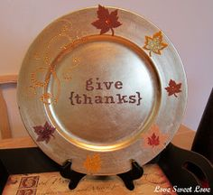 Love Sweet Love: Decorative Fall Chargers