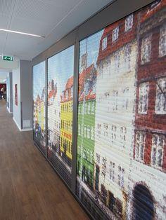 Inside art - decorated storage areas at Generator Copenhagen