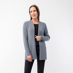 Midtown is a modern elemental cardigan. We love it simple lines, neat slipped stitch and ribbed edging, and the warm, lightweight fabric in Maai and Cima. Midtown is the perfect essential for daily wear.