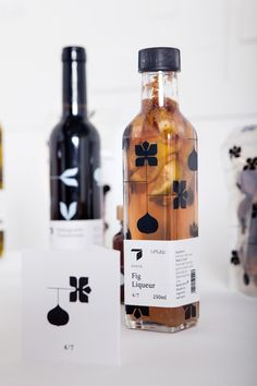 Love the idea of printing on the bottle. This design looks like a designer logo (think LV)