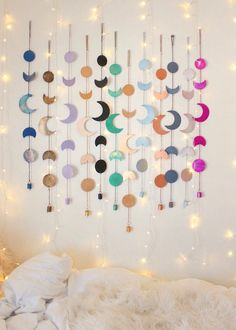 Bring the Moon's Magic into your Home. The Moon Phase wall hanging is perfect for your bohemian home decor. for adults Moon Phases Wall Hanging Decor Ramadan Decoration, Diy Eid Decorations, Hanging Decorations, Diy Room Decor, Bedroom Decor, Bedroom Ideas, Nursery Ideas, Wall Decor Crafts, Kids Wall Decor