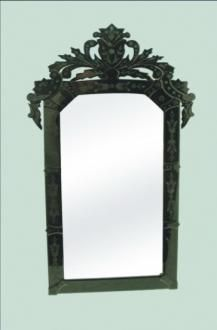 Black Venetian Style Mirror