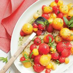 Tipsy Red-and-Yellow Watermelon Salad - Best Watermelon Recipes - Southern Living