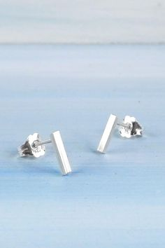 Pearl Silver Earring Sterling Silver Asymmetric Stud Simple Silver Stud Earring Gift for her