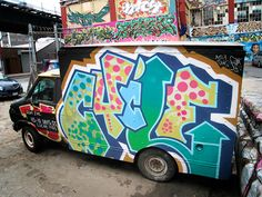 New York City Graffiti Trucks | Senses LostGraffiti art trucks  as seen moving around the citys art movement https://www.etsy.com/shop/urbanNYCdesigns?ref=hdr_shop_menu #graffiti #streetart #graffititrucks