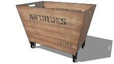 3D Model of CAISSE ANTIQUITES, Maisons du monde. Réf: 137997 Prix:119,90 €