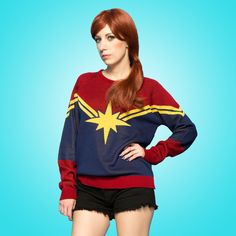 Welovefine:Captain Marvel Knit Sweater