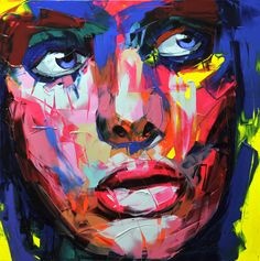 "Blue-by-Francoise-Nielly- talented French artist Francoise Nielly recently released pictures of her most recent works, a series of paintings entitled ""Blue"" once again made with oil and knife, and the results are superb."