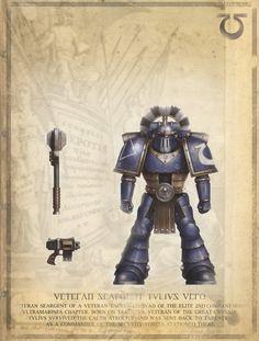 Warhammer 40k Horus Heresy Ultramarines Veteran Sereant Tulius Vero