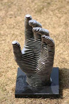 Metal sliced sculptures