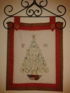 Bordado de hebras con algo de patchwork... También para esta navidad.