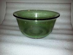 """Vintage GE General Electric Green Glass 9-3/8"""" Mixing Bowl"""