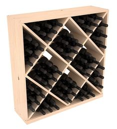 You'll love the Karnes Pine Diamond Cube 82 Bottle Floor Wine Rack at Wayfair - Great Deals on all Furniture products with Free Shipping on most stuff, even the big stuff.