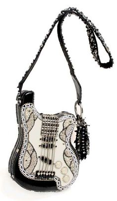 online shopping for Mary Frances Graceland Hand Beaded Bejeweled Black White Elvis Guitar Handbag Shoulder Bag from top store. See new offer for Mary Frances Graceland Hand Beaded Bejeweled Black White Elvis Guitar Handbag Shoulder Bag Unique Purses, Unique Bags, Beaded Purses, Beaded Bags, Mary E Francis, Fashion Bags, Fashion Accessories, Graceland, Mary Frances Handbags