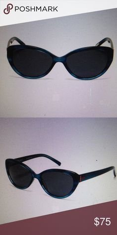 REDUCEDWoman's Ted Baker cat's-eye sunglasses NWT REDUCED Woman's Ted Baker cat's-eye sunglasses 56 – 15–35mm(eye-bridge-temple)  Teal (Dark blue) frames with solid grey lenses frames material is cellulose acetate plasticLens type CR – 39 100% UVA/UVB protected, polarized Comes with case NWT Ted Baker Accessories Sunglasses