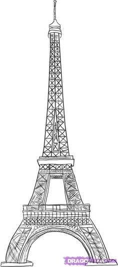 How To Draw The Eiffel Tower Step 6