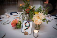 Wedding table centerpiece  (flowers by Blumgarten)