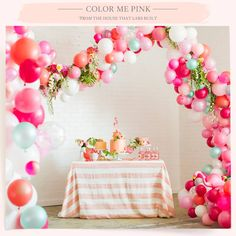 Flamingo pink bridal shower