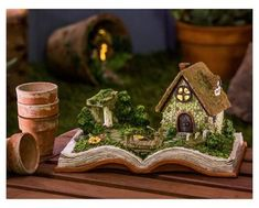 "New Creative 5"" Battery - Powered Fairy Village Storybook - Multi Color - Evergreen Enterprises"