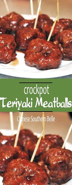 Delicious, Quick and Easy to make Crock Pot Asian BBQ Teriyaki Meatballs. Healthy, and makes a Great addition to your Game Day, Picnics and Parties! Appetizers For Kids, Appetizers For Party, Party Snacks, Party Dips, Slow Cooker Recipes, Crockpot Recipes, Cooking Recipes, Loaf Recipes, Cooking Games