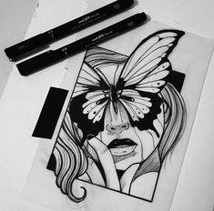 Dark Art Drawings, Art Drawings Sketches Simple, Pencil Art Drawings, Colorful Drawings, Tattoo Drawings, Graffiti Art, Family Tattoo Designs, Tatoo Art, Hippie Art