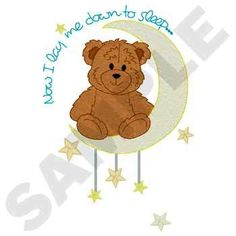 NOW I LAY ME DOWN TO SLEEP BEAR - CHILDREN - 2 EMBROIDERED HAND TOWELS by Susan