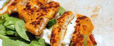 Gewoon wat een studentje 's avonds eet: Dinner: Wraps met kipschnitzel, rauwe spinazie, mo...