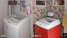 Veja o antes e o depois! De um área de serviço sem graça para um cantinho retrô Foto: Reprodução blog Decorviva