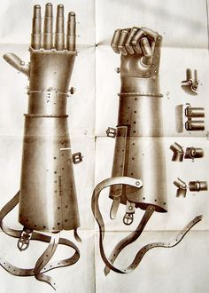 Götz von Berlichingen, also known as Götz of the Iron Hand, was a famous German mercenary knight employed by the lords and kings of the time to do their Mechanical Arm, Serpentina, Landsknecht, Hand Photo, Vintage Medical, Medieval Knight, Medieval Armor, 16th Century, Middle Ages