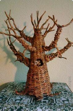 Tutorial arbol con cestería de papel