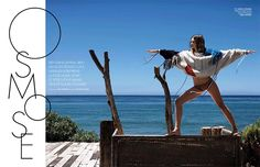 Supermodel Miranda Kerr graces the pages of ELLE France's July 7th, 2017 issue. Photographed by Jan Welters, the recent newlywed shows off yoga poses in the fashion editorial.